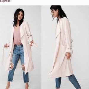Express Soft Drape Trench Coat